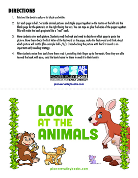 Look At the Animals (Level A/1)