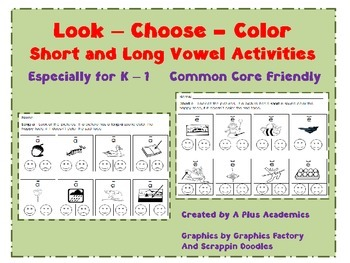 Vowels - Look- Choose - Color - A Fun Way to Learn!