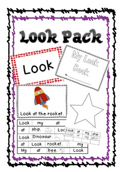 Look - Commonly used words, flash cards, setence work, books