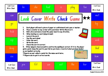 Look Cover Write Check Spelling Game