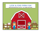 Look & Find Farm Fun! Articulation Therapy Activity for /F
