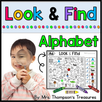 Look & Find Hidden Picture Puzzles - Alphabet