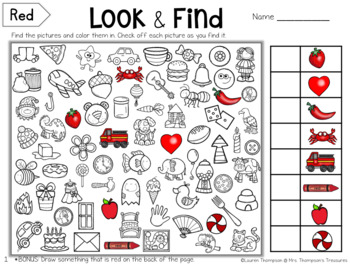 Look & Find Hidden Picture Puzzles - Colors