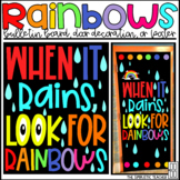 Look For Rainbows March Growth Mindset Bulletin Board, Door Decor, or Poster