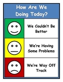 Look How We're Doing Today Classroom Management Chart