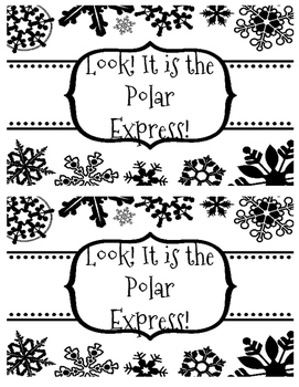 Look! It is the Polar Express! Emergent Reader