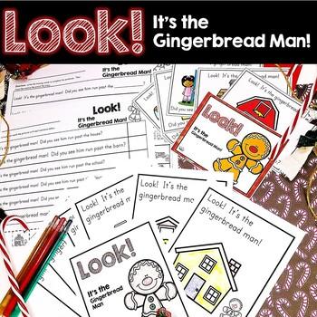 Gingerbread Man Emergent Reader Activities