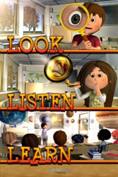 Look, Listen, Learn- Classroom Management Poster