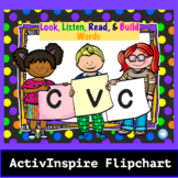 Look,Listen,Read,& Build CVC Words: Promethean Flipchart Bundle