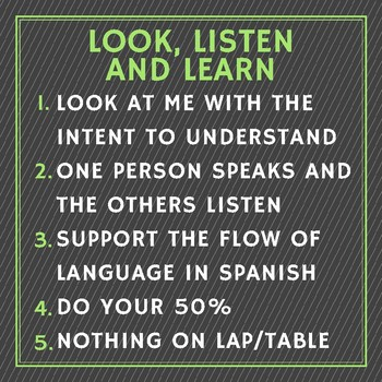 Look, Listen and Learn Classroom Management poster