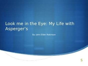 Look Me in the Eye Novel - review - Aspergers