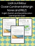 Look Out Below! Ocean Continental Margin Notes PREZI (Differentiated, Spanish)