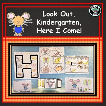 Look Out Kindergarten   Here I Come!    6 Easy Prep Literacy Centers