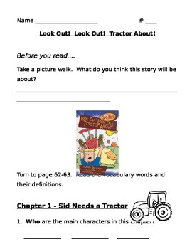 Look Out!  Look Out! Tractor About!  Comprehension Questions