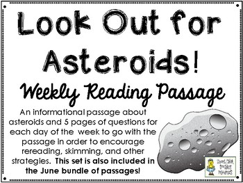 Look Out for Asteroids! - Weekly Reading Passage and Questions