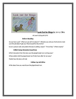 Look Out for Bingo for Guided Reading