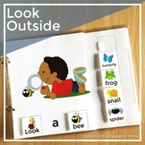 AAC Core Vocabulary Interactive Book: Look Outside