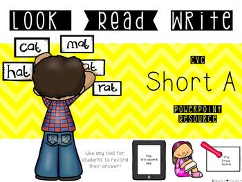 Look-Read-Write: Short A {Paperless Word Work}