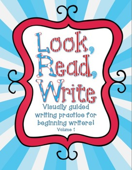 Look, Read, Write: Visually Guided Sentence Writing Volume 1