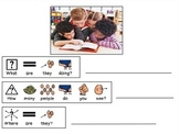WH Question Writing Worksheets for Autism Special Education #mar2018slpmusthave