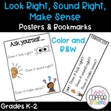 Look Right, Sound Right, Make Sense: Poster & Bookmarks!