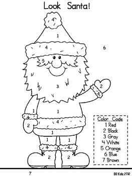 Look Santa! Kindergarten Emergent Reader/ Language Arts & Math/ Christmas