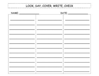 Look Say Cover Write Check