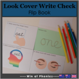 Look, Say, Cover, Write, Check Flip Book Activity - UK, NZ, AUS Version