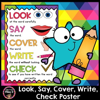 Look, Say, Cover, Write, Check Poster