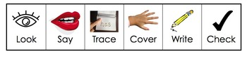Look, Say, Trace, Cover, Write, Check 'Cover Up Bookmark'