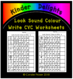 Look Sound Color Write CVC Worksheets