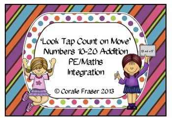 'Look Tap Count on Move' Numbers 10-20 Addition  PE/Maths