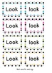Look & The High frequency common words activities & Flashc