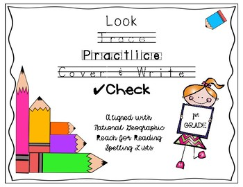 Look, Trace, Practice, Cover and Write, Check for 1st grade REACH for READING