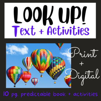 Look UP!  Early Reader #15 using Fry's First 100 Words