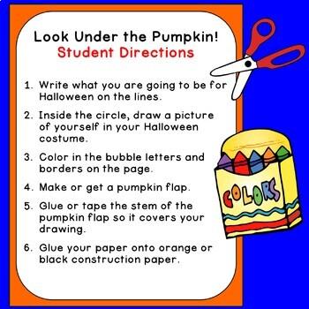 Look Under the Pumpkin! Halloween Writing & Reading; A Lift-the-Flap Class Book