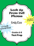 Look Up From Cell Phones Persuasive Text STAAR formatted questions