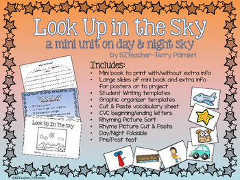 Look Up In The Sky - What is in the Day and Night Sky? mini science unit