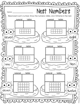 Look WHOOO'S Learning! (hands-on math tub activities, worksheets, & assessments)