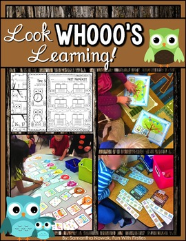Look WHOOO'S Learning! (hands-on math tub activities, work