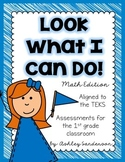 Look What I Can Do {1st grade math assessments}
