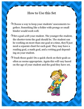 Look What I Can Do! Goals & Assessments Tracking for Young Students