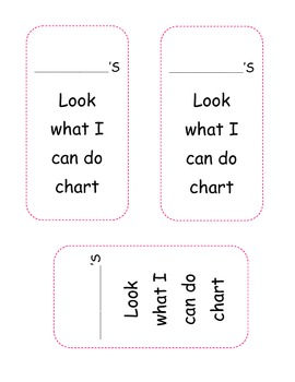 Look What I Can Do Sticker Chart