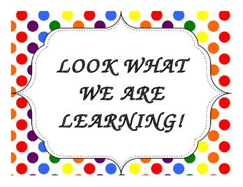 Look What We Are Learning Poster