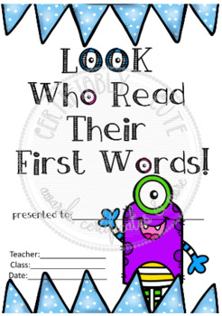 Look Who Read Their First Words! Monster