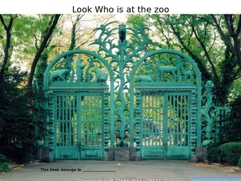 Look Who is at the Zoo booklet