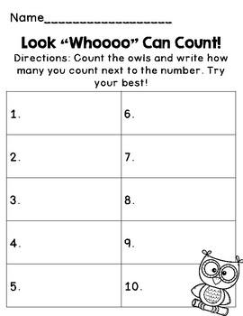 Look Whoooo Can Count!