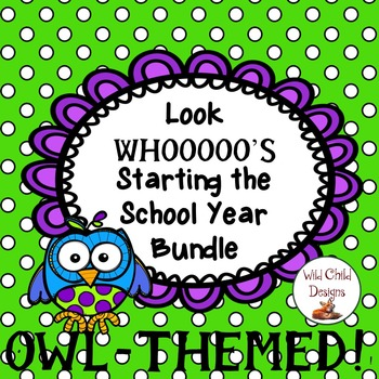 Back-to-School Bundle of Goodies: OWL-THEMED