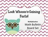 Look Whooooo's Gaining Facts Bulletin Board Set.  Math Multiplication. Owls