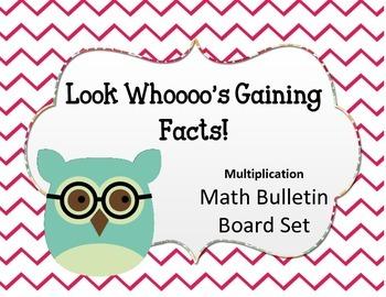 Look Whooooo's Gaining Facts Bulletin Board Set.  Math Mul